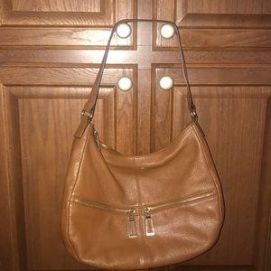 Calvin Klein leather Cognac Leather Hobo Handbag